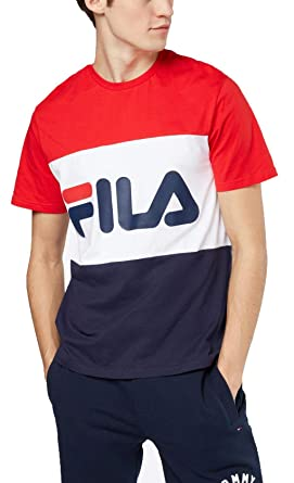tee shirts manches courtes fila 687192 classic day bleu