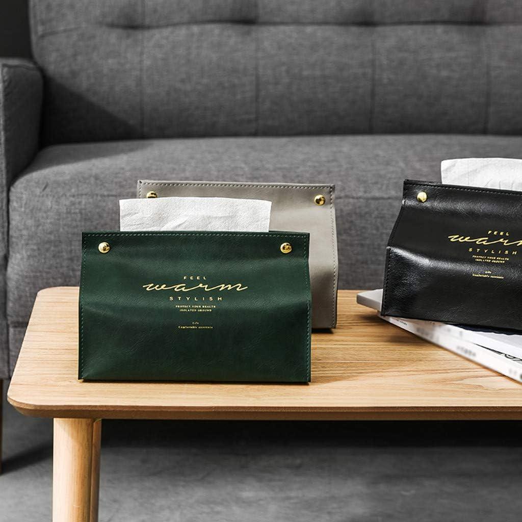 Sansee Rectangular Tissue Box Cover Holder New Leather Facial Tissue Storage Box Container Lovely Anti-Dust Kleenex Napkin Holder