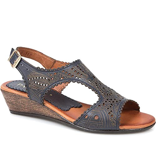 2e842b1b30e4 Pavers Leather Slingback Sandal 308 116 - Navy Size 8 (41)  Amazon.co.uk   Shoes   Bags