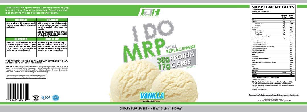 I Do Health Mrp Vanilla