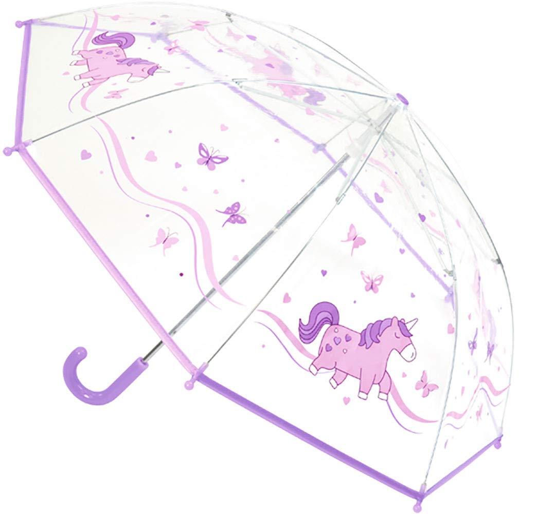 Mädchens Einhorn Regenschirm (Lila)
