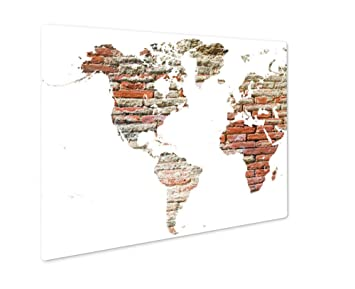 Amazon ashley giclee metal panel print world map cut out in ashley giclee metal panel print world map cut out in old grunge bricks wall gumiabroncs Choice Image