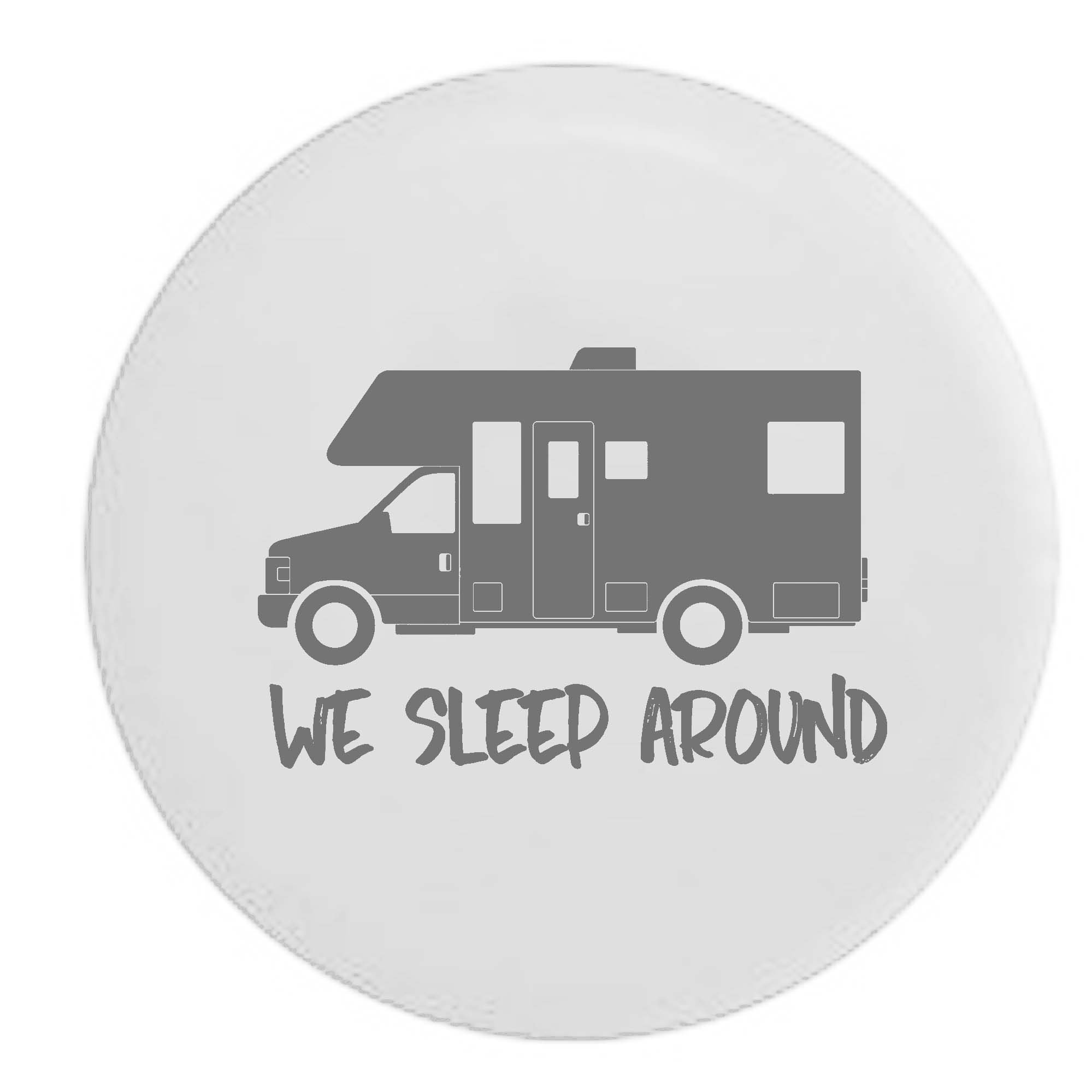 Pike Outdoors We Sleep Around Motorhome RV Camper Spare Tire Cover OEM Vinyl White 33 in by Pike Outdoors