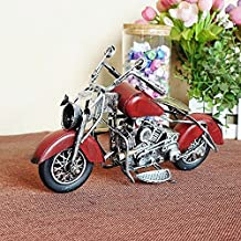 DHL one week delivery, Olde worlde, Retro, Antiques Model Classic Motorcycle For Collection, Handmade Model Decoration (Brown)