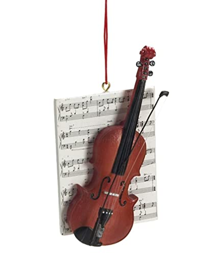 1 X Violin with Sheet Music Resin Hanging Christmas Ornament - Size 4.25 in. - Amazon.com: 1 X Violin With Sheet Music Resin Hanging Christmas