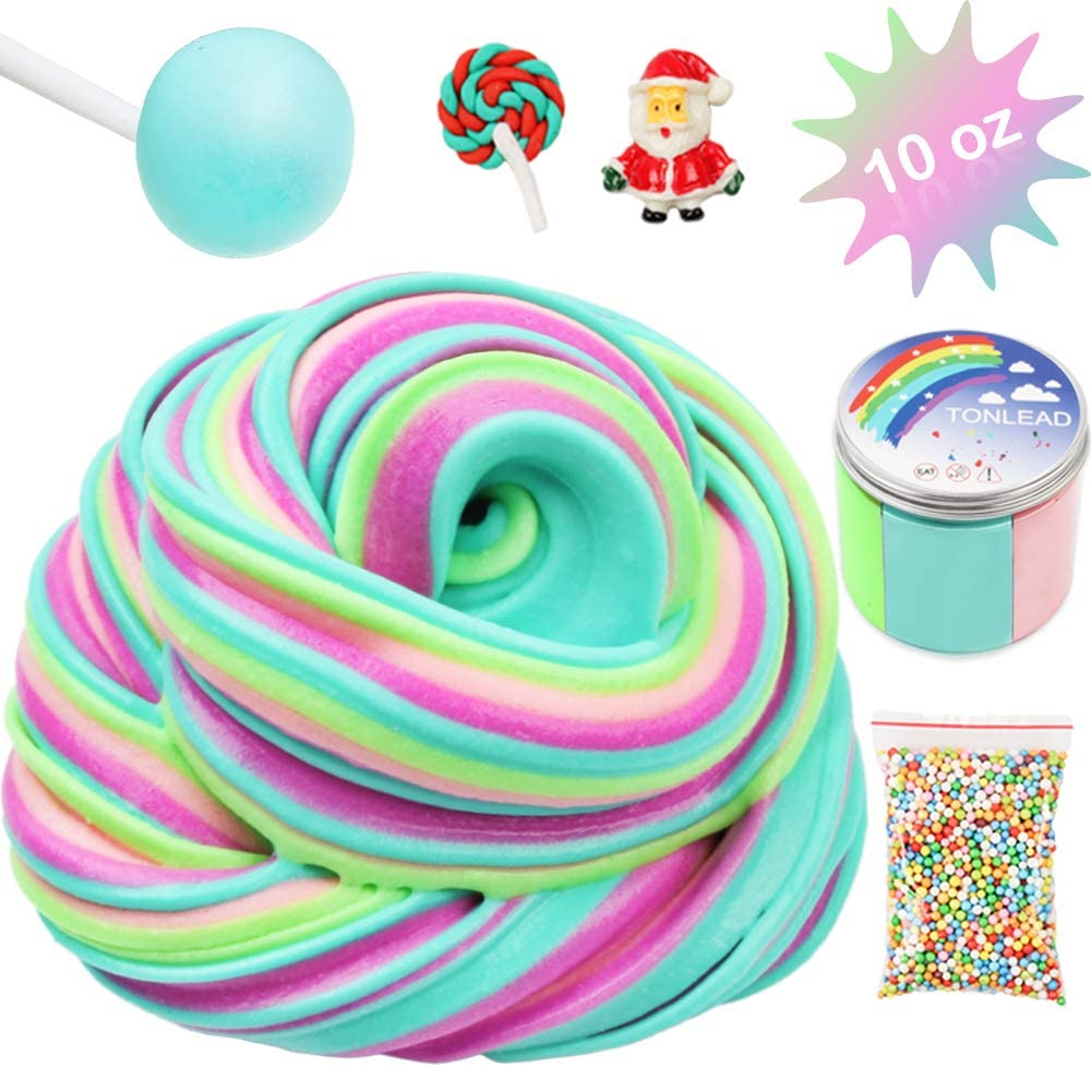 Stretchy Toy Birthday Party Favor Unicorn Butter Slime Kit for Girl Boy Rainbow Soft Floam Putty Mud Non Sticky Slime Scented Sprinkles Charms