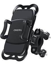 """OMERIL Soporte Movil Bicicleta y Moto, Anti Vibración Soporte Movil Bici Universal con 360° Rotación para iPhone X/8/7, Samsung S9/S8, Huawei P20, Xiaomi RedMi Note 9, GPS y 3.5""""- 6.5"""" Dispositivos"""
