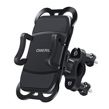 OMERIL Soporte Movil Bicicleta y Moto, Anti Vibración Soporte Movil Bici Universal con 360°