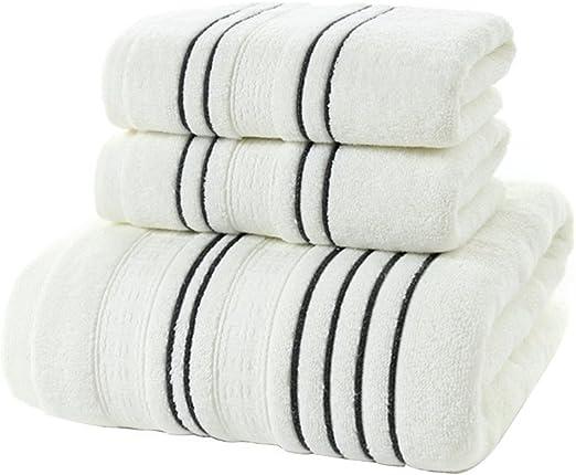 Buoqua Juego de toallas de baño, algodón, color blanco: Amazon.es: Hogar