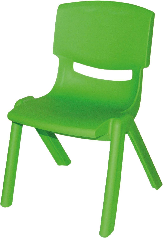 Bieco 04000002 - Sedia in plastica per bambini, colore: Verde 2079644