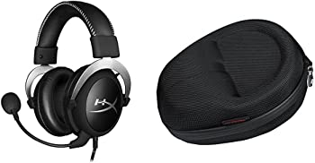 HyperX On-Ear Wired Gaming Headphones + Cloud Carrying Case