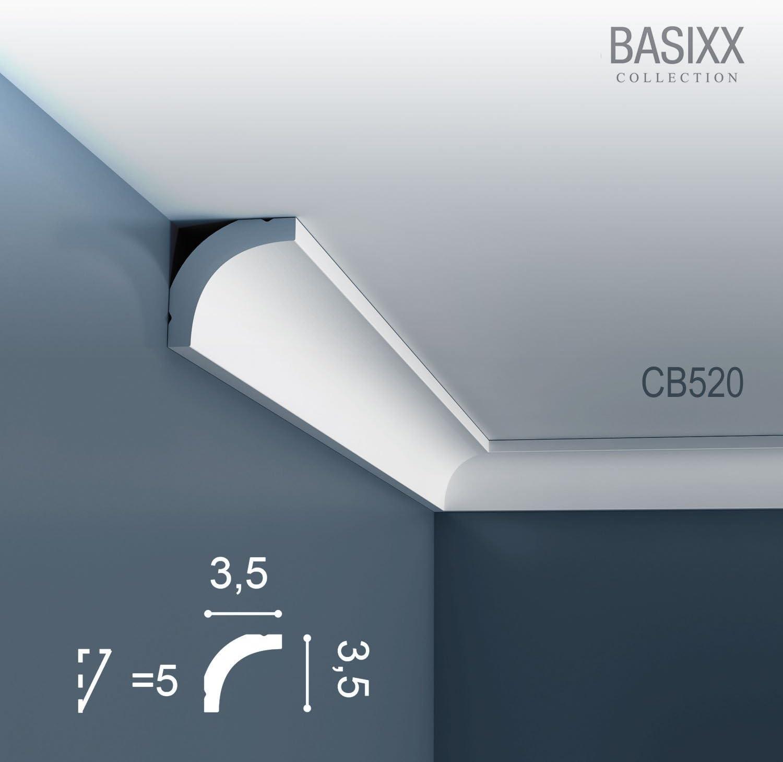 1 carton complet 10 Corniches Moulures Cimaises 20m Orac Decor CB520 BASIXX