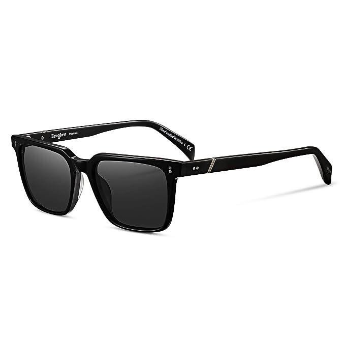 Amazon.com: Gafas de sol clásicas cuadradas para hombre ...