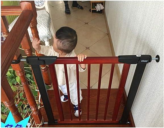 HONGAN Telescópica De Seguridad For Mascotas Gate Bar Bebé Puertas De Valla Escaleras Barandilla Muro Protector De Madera Maciza Gratuito De Perforación De Cierre Automático: Amazon.es: Hogar