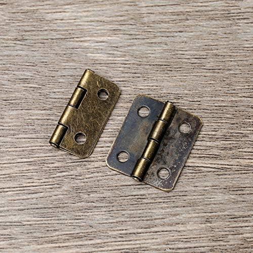 Latón 5 Unidades. casa muñecas joyeros 10 mm Mini pomo miniatura