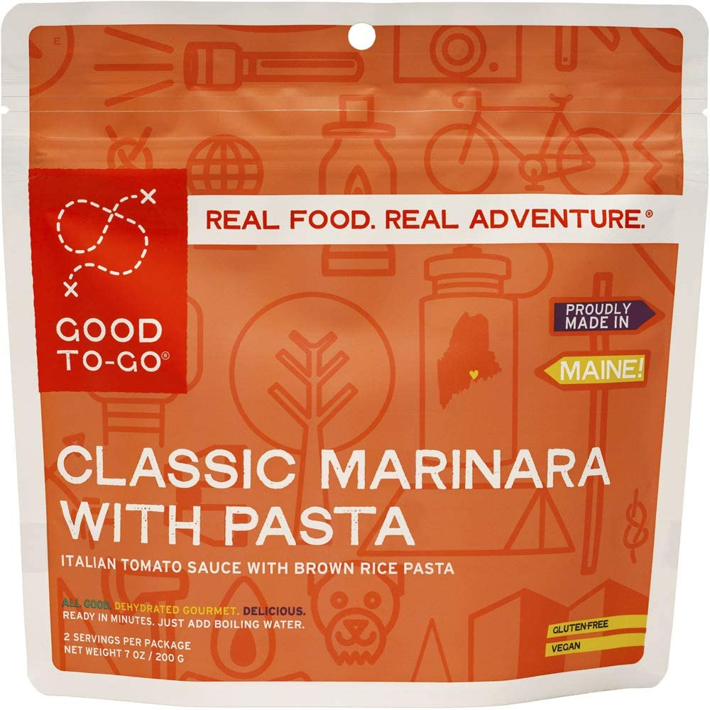 GOOD TO-GO Classic Marinara with Pasta | Dehydrated Backpacking and Camping Food | Lightweight | Easy to Prepare