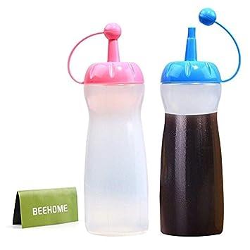 Botellas de plástico flexible aptas para uso alimentario, sin Bisfenol A. Botella de polipropileno