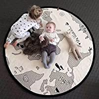 Baby Crawling Mats World Map Pattern Floor Playmats Animal Early Education Ro...