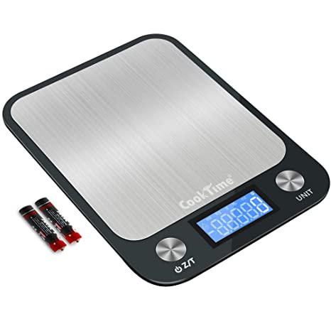 Digital Kitchen Food Scale Grams And Ounces Ultra Slim Multifunction Tare Function Kitchen Weight Scales For Cooking Baking 22lb 10kg