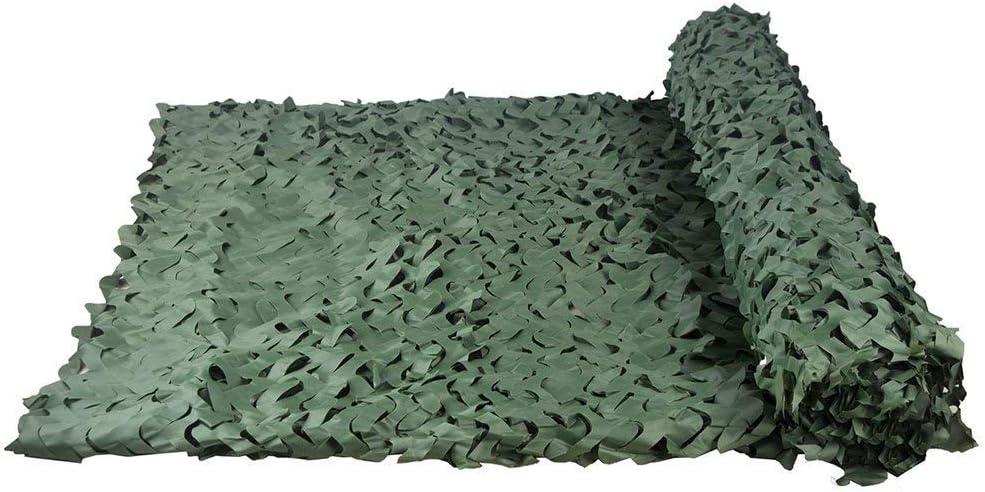 オックスフォード布迷彩ネット, 軍用カモフラージュネット、高密度、隠蔽、車両カバー、装飾シューティングハンティング場に適した補強ネットワークを追加する(複数のサイズを用意、純粋な緑) (Size : 4*20M(13.1*65.6ft))
