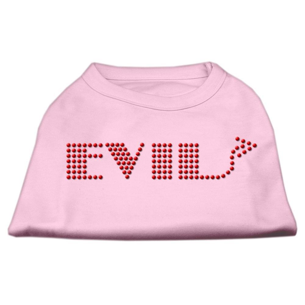 Mirage Pet Products Evil Rhinestone Pet Shirt, Medium, Light Pink