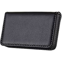 Wastar® Stylish Business Card Case Holder Premium Pu Leather Name Card Holder Case with Delicate Storage Bag (Ideal for Gift) - Black