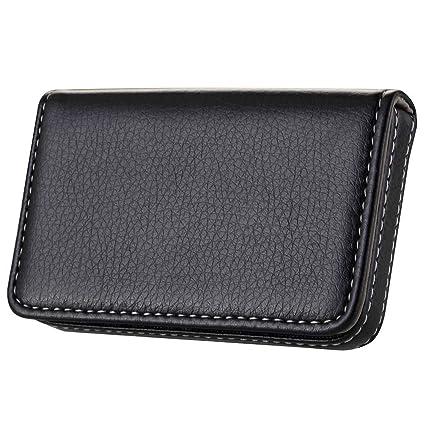 Amazon wastar stylish business card case holder premium pu wastar stylish business card case holder premium pu leather name card holder case with supple colourmoves