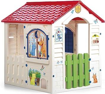Chicos - Country Cottage Casita Infantil de Exterior, Color Beige con tejado Rojo (La Fábrica de Juguetes 89607): Amazon.es: Juguetes y juegos