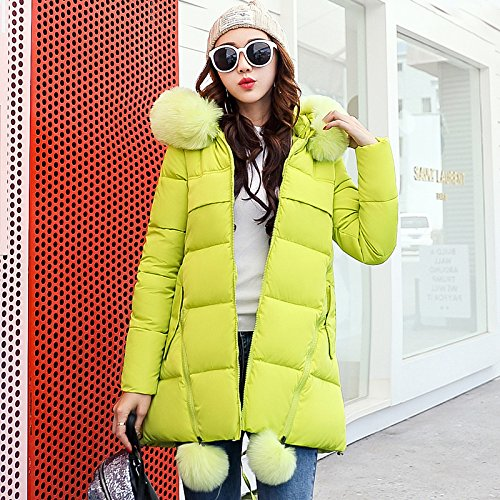 ... Warm Winter Jackets New Women Parka Jacket Female MediumLong Parka Fur Hood Coat Women Cotton Jacket Abrigos Mujer Large Size S XXXL Green S: Clothing