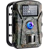 APEMAN Wildlife Camera 16MP 1080P FHD Trap with Infrared Motion Activated Game Camera Night Vision up to 65ft/20m and IP66 Spray Waterproof for Wildlife Monitoring, Garden, Home Security Surveillance