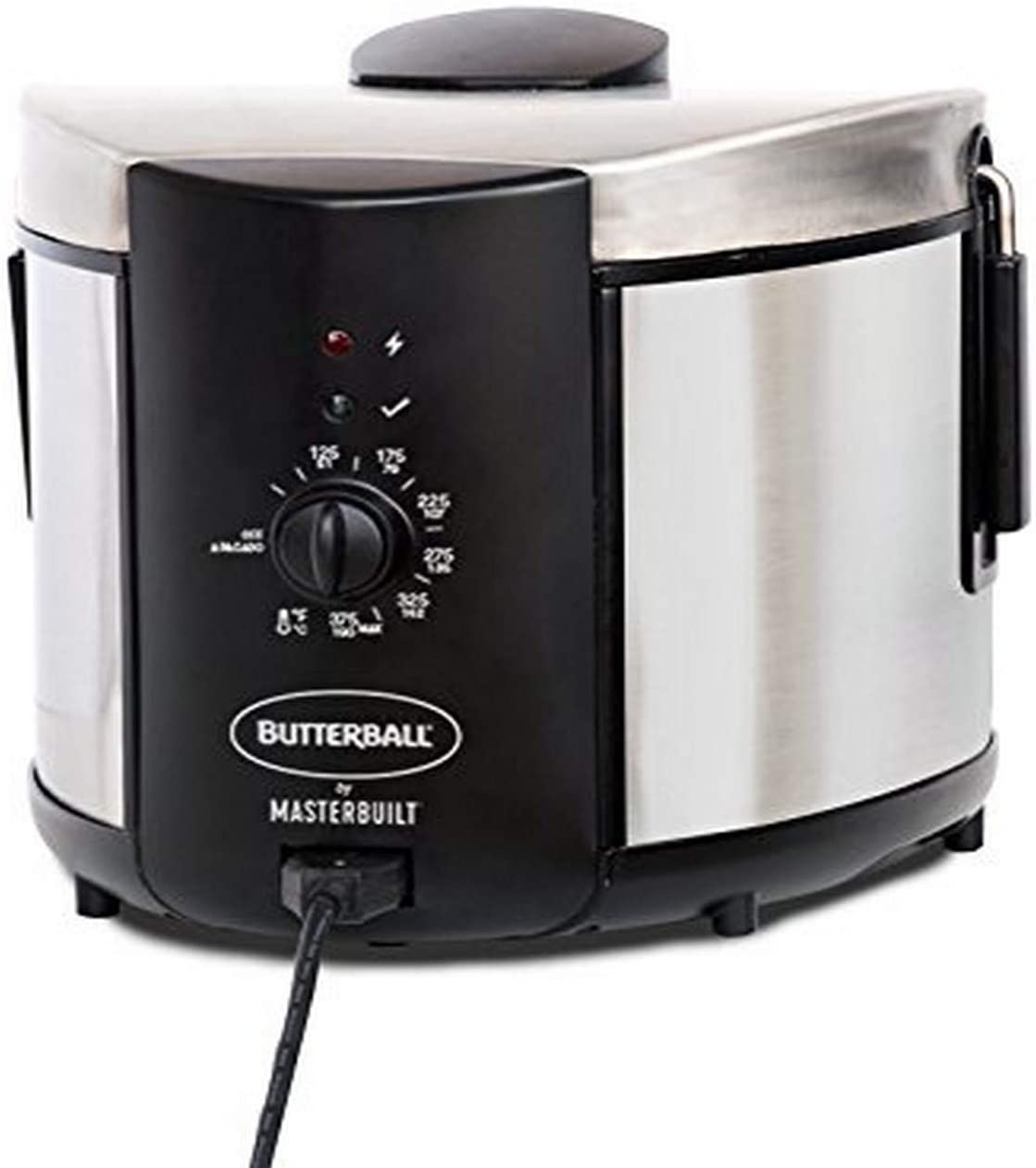 Masterbuilt MB23015018 5-Liter Electric Fryer, 5L - Standard, Stainless Steel