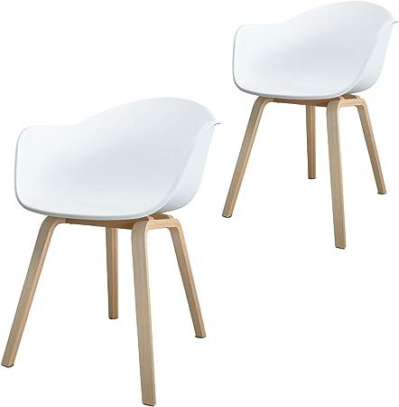 Damiware Romeo - Pack 2 sillas Tower Blanca, Silla Romeo Blanco y ...
