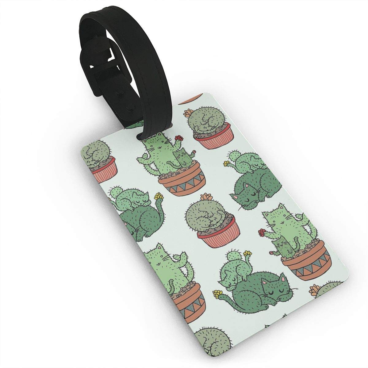 Travel Luggage ID Tag for Bags Suitcases with Adjustable Strap Books Are Magic Set of 1