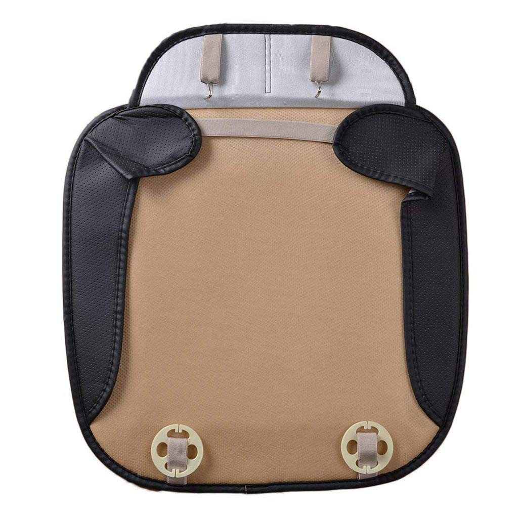Orange CHIAE Car Interior Seat Cover PU Leather Edge Full encircled Breathable Bamboo Charcoal for Auto Car Supplies Car seat Cushion Protection Cushion Auto Accessories 1pcs