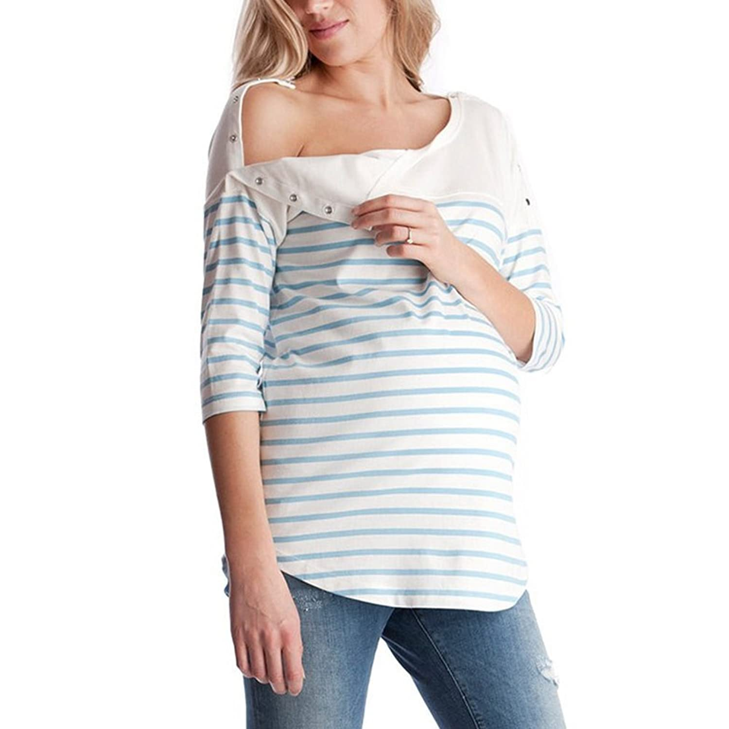 fe5c3d6d775 MEIHAOWEI Maternity Clothes Nursing Top Nursing Breastfeeding Tops  Pregnancy Clothes for Pregnant Women Maternity Tops: Amazon.co.uk: Clothing