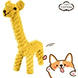 PETBABY Puppy Interactive Toy, Pet Cotton Natural Animal Rope, Dog Teeth Cleaning Chew Toy for Small to Medium Dog (Giraffe)