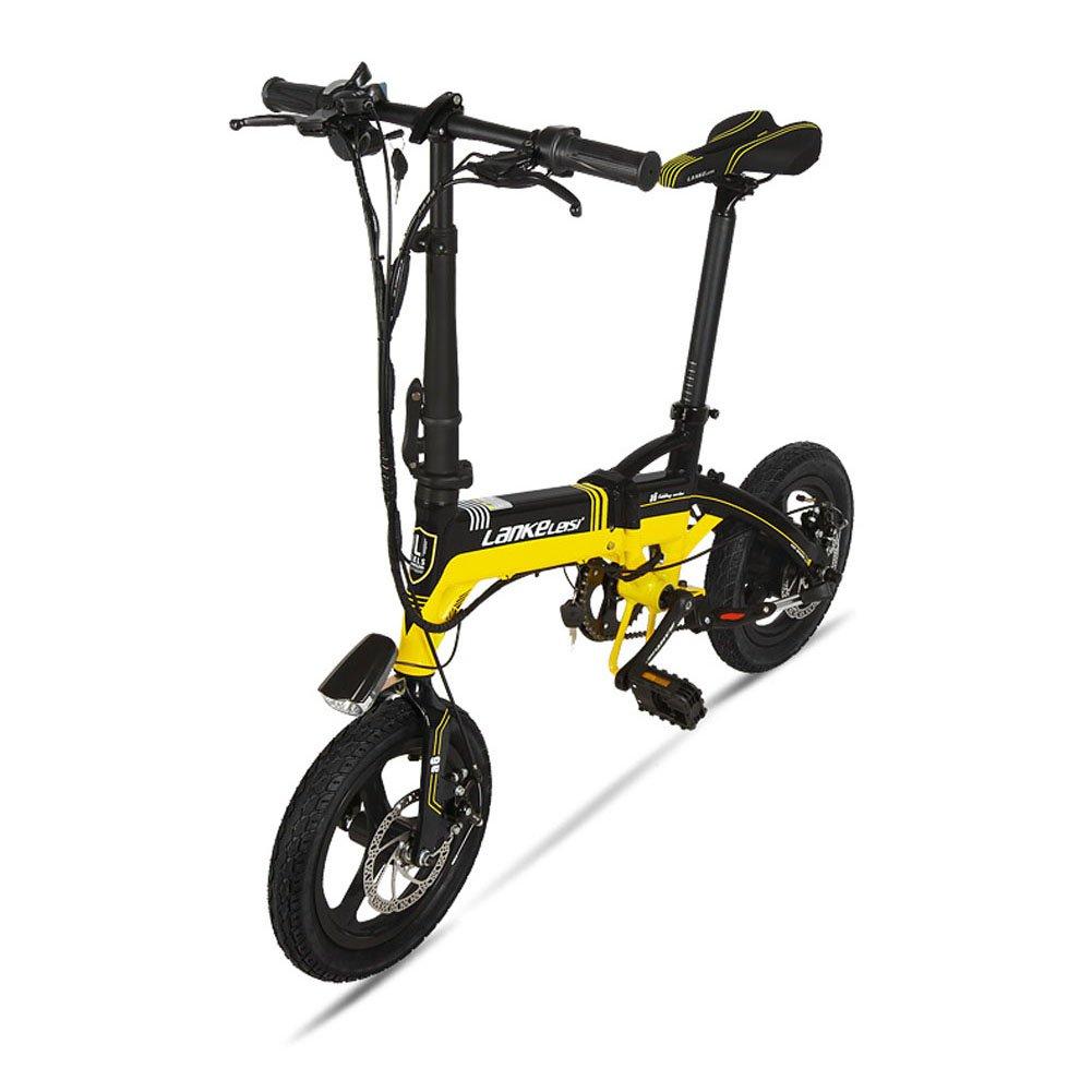 Extrbici A6 plegable marco de aleación de aluminio Mini eléctrica bicicleta 14 pulgadas 240 W Hub motor 36 V 8.7ha Hiding extraíble de litio recargable 7 ...