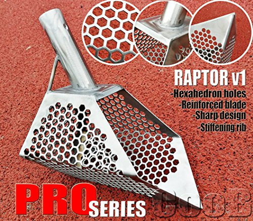 Shell Scoop (Beach Sand Scoop Metal Detector Hunting Tool CooB PRO Series Raptor v1 Stainless Steel 2mm VERY STRONG EFFECTIVE FOR ANY TYPE GROUND)