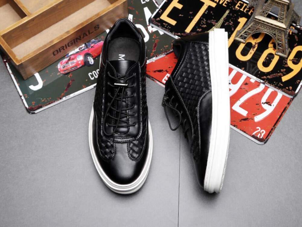 Hombres Bomba Placa Zapatos Casual Casual Casual Sport Zapatos Lazo Shoeslace Talón Plano Puro Color Snekers EU Tamaño 38-43,Negro,39EU dd473e