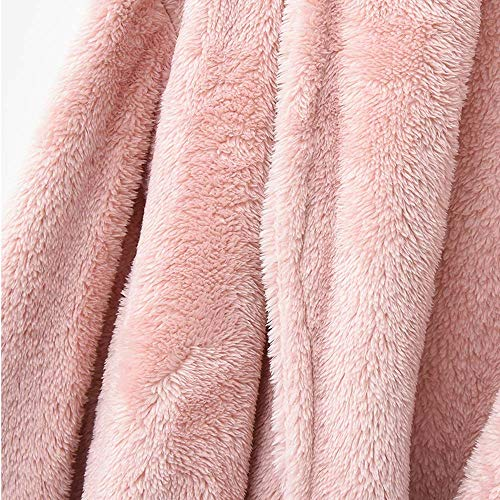 Servicio Coral Domicilio Larga Cálido Polar A Pareja Sección Albornoz Gray Gris Huifang Pink color Rosa Grueso Camisón OqtP44A