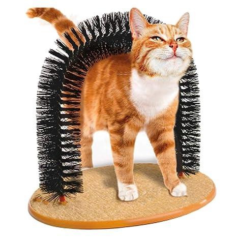 Hejiahuanle - Cepillo para Gatos, Arco purfecto, Almohadilla para rascar Mascotas, Juguete para