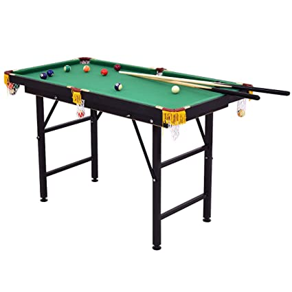 Amazoncom Foldable Billiards Game Table Set Mini Size W - Fold up pool table full size