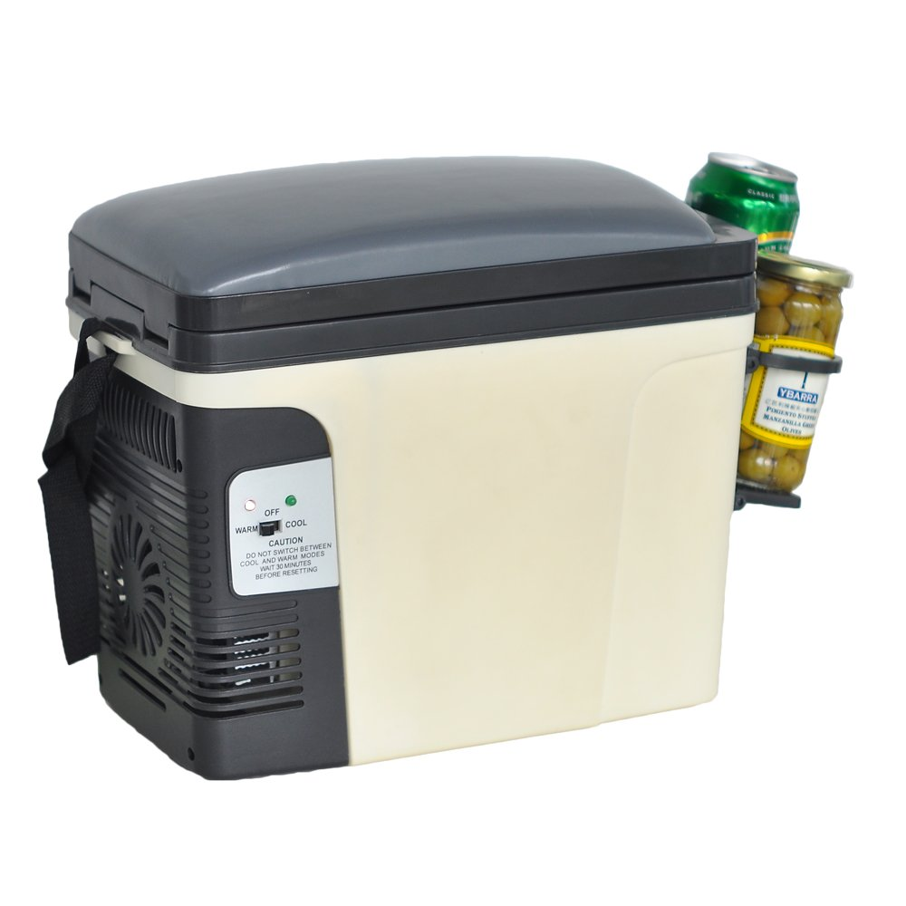 Generic Compact Portable Vehicle Refrigerator Beverage Car Cooler Food Warmer 110V/12V Thermoelectric Truck Fridge,6L by SMETA (Image #1)