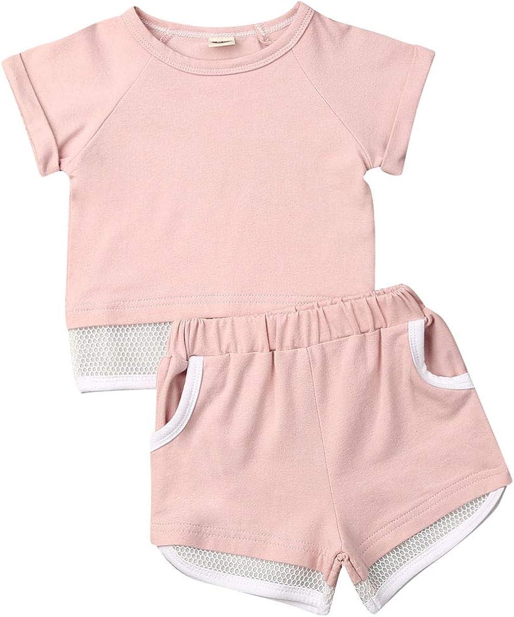 Childrens Tracksuits Girls Cropped Summer Capri Set Heart Short Sleeve Cotton