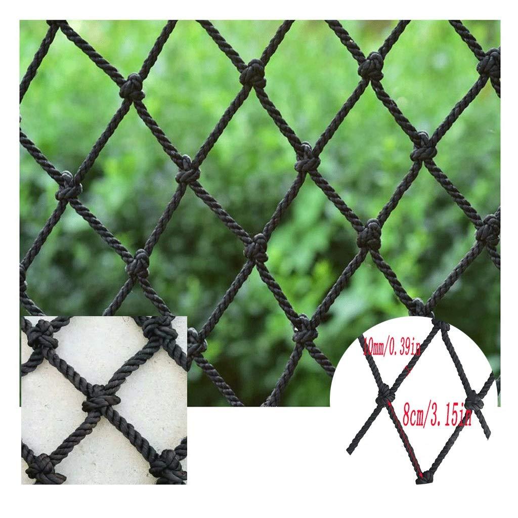 Child Safety Net Protection Net Black Railing Net Child Anti-Fall Safety Net Rope Garden Protection Net Plant Fence Protection Net Cat Net 80x80mm Net (Size : 3x3m)