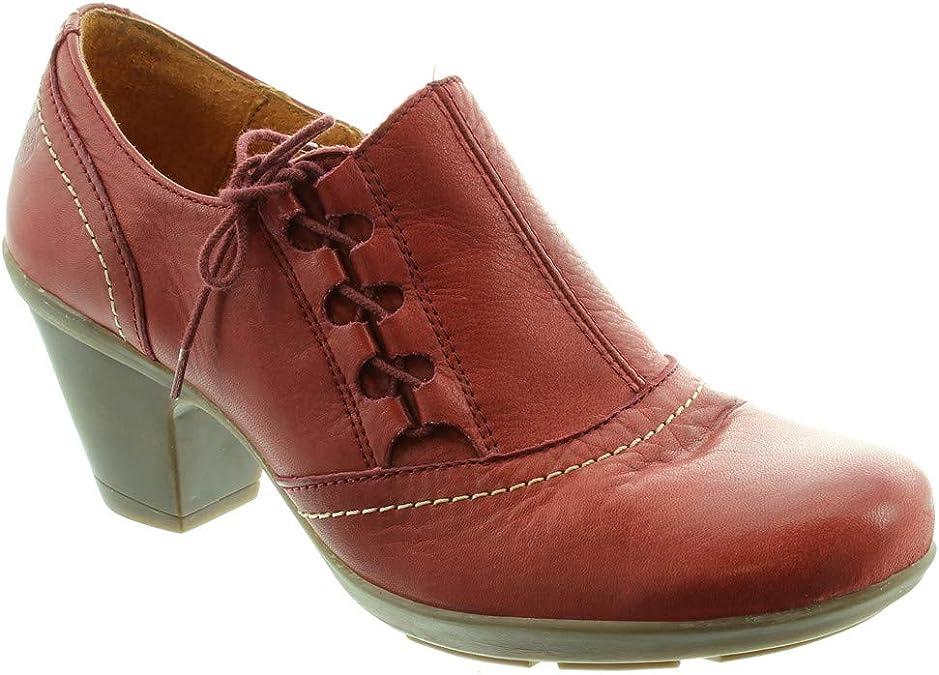 Yokono Zapatos de Cordones para Hombre Rojo Granate