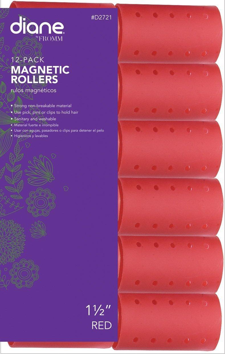 DIANE Magnetic Hair Rollers, Aqua, 1 3/8 1 3/8 DI-D2720