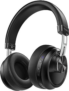 Inalámbrico On-Ear Auriculares Bluetooth, mit20 Horas de Tiempo de Parte, Stereo Wireless Headset con micrófono y Entrada de Audio de 3,5 mm para iPhone/Android – Negro: Amazon.es: Electrónica