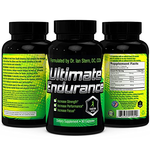 Ultimate Endurance - Powerful Aerobic and Energy Booster - Increases Circulation - Buffers Lactic Acid - All-Natural and Caffeine-Free