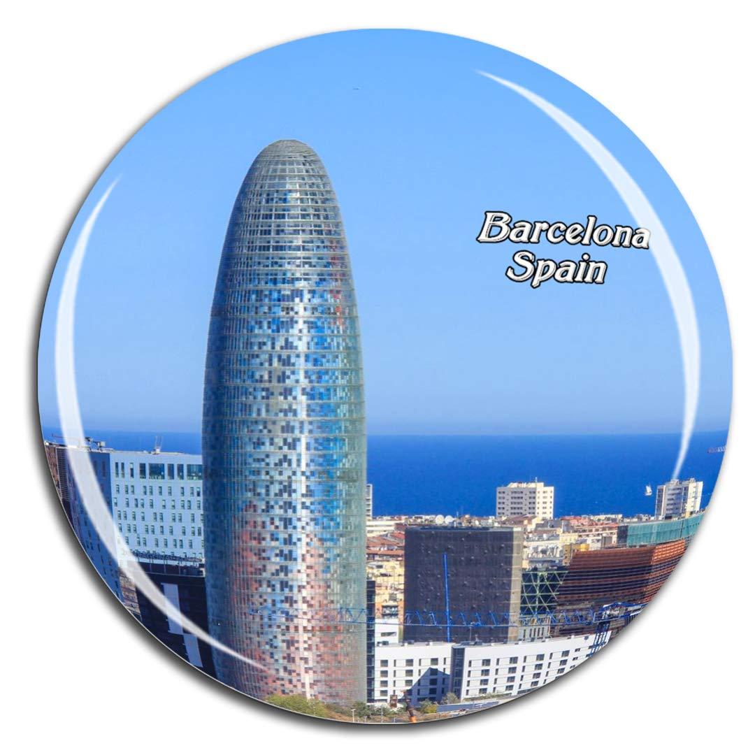 Weekino Torre agbar españa Barcelona Imán de Nevera 3D de Cristal ...